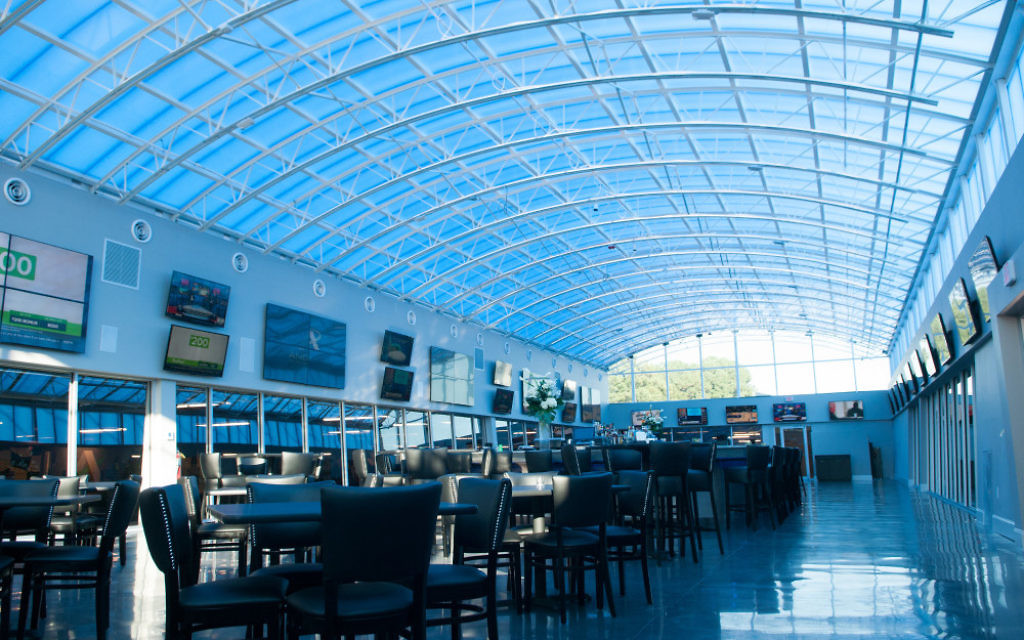 Andretti Indoor Karting's breathtaking Sky Bar can handle 350 guests.