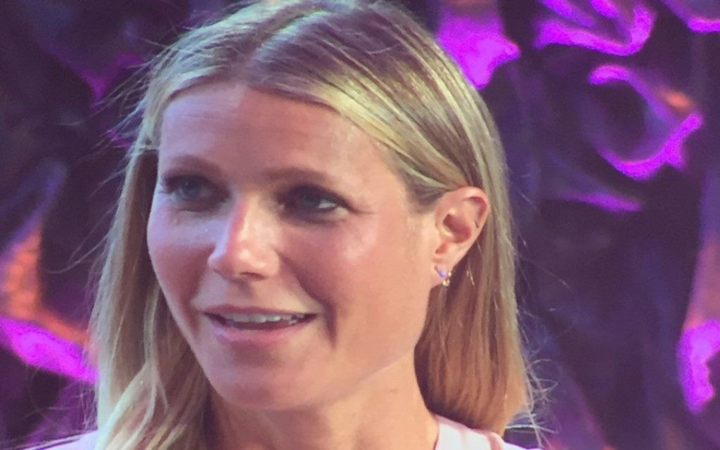 Gwyneth Paltrow answers questions at the opening plenary.