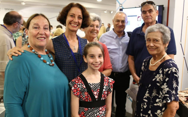 "Shula Bahat (left), the CEO of Beit Hatfutsot of America, joins Adina and Noa Rudisch at the ""My Family Story"" award ceremony in Tel Aviv in early June."
