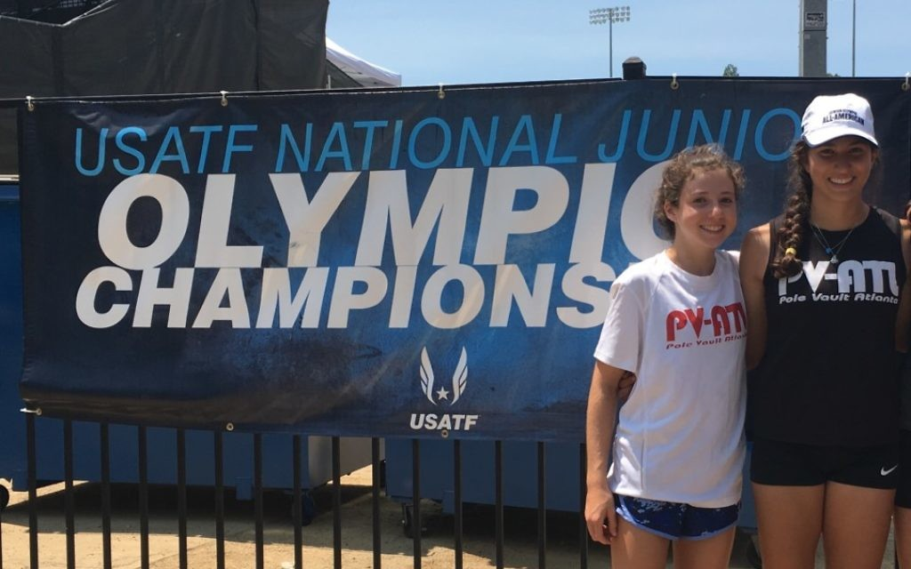 Ariel (left) and Becky Arbiv attend the track and field national championships in July.