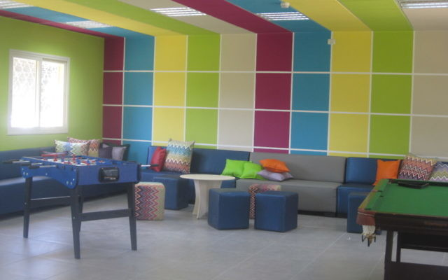 The renovated Panovka Family Lounge is helping students feel at home at Hodayot.