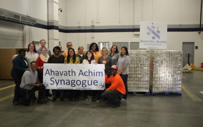 Ahavath Achim Synagogue helped push Operation Isaiah well past the million-pound mark by collecting more than 100,000 pounds of food this year.