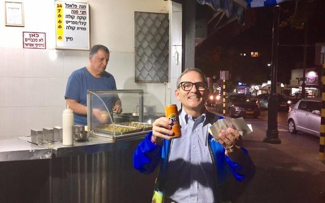 Morris Maslia gets the falafel at Falafel Mizrachi.
