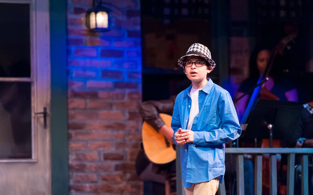 Freshman Ari Slomka appears during the Weber fall show. (Photo by Andria Lavine Photography)