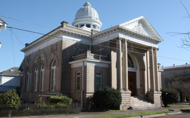 Temple B'nai Israel's current building was erected in 1905 after a fire destroyed the previous facility on the same spot in the heart of Natchez, Miss.