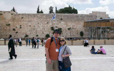 Ryan and April Basler visit the Western Wall.