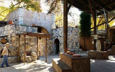 Biblical History Center visitors can walk through a replica of a biblical town square.