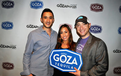 Goza Tequila founders Jacob Gluck, Lauren Kaufman and Adam Hirsch.