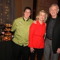 Marilyn and Ron Winston join For All Occasions and More chef Jodie Sturgeon at the gala's only kosher food table.