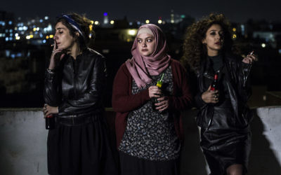 """In Between,"" being shown Jan. 27 and 30 and Feb. 11 and 14, brings together (from left) Laila (Mouna Hawa), Nour (Shaden Kanboura) and Salma (Sana Jammelieh)."