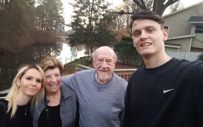 Olga Wuls and brother Nikita Lomov visit Bernice and Jeff Savell.