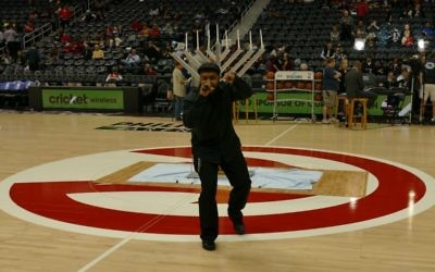 In 2015, local hip-hop artist Prodezra Beats performed at the pregame menorah lighting during Jewish Heritage Night at Phillips Arena.
