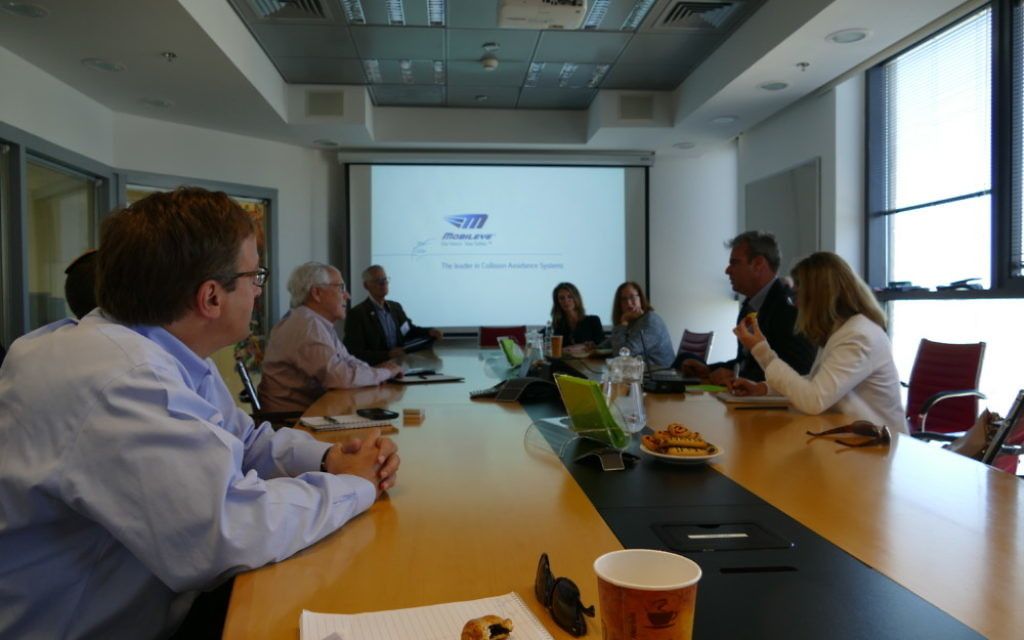 A delegation from the Southeast visited Mobileye headquarters in Jerusalem in November 2016.
