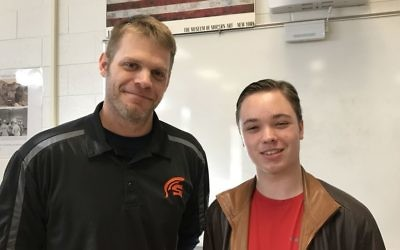 Chase McGrath, North Springs' STAR student, selected Stephen Bengston as his STAR teacher.