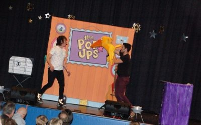 Photos courtesy of Federation The Pop Ups keep the crowd dancing and clapping along at the Davis Academy on Jan. 29.