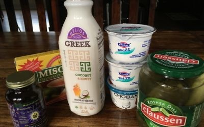 Probiotics are available in supplement form and in foods such as miso, kefir, yogurt and pickles. (Photo by Leah R. Harrison)