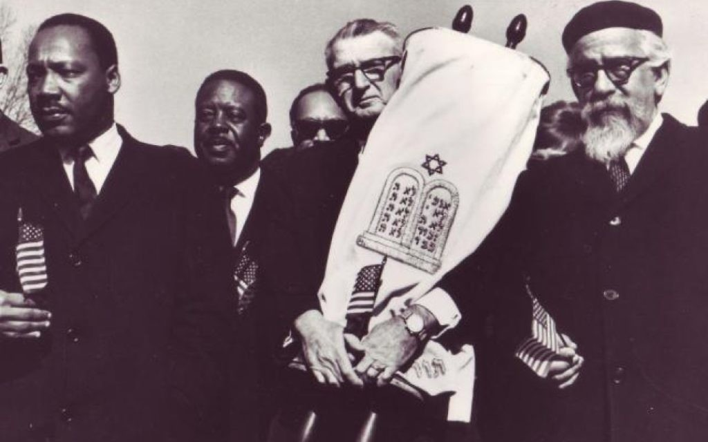 (From left) Martin Luther King Jr., Rabbi Maurice Eisendrath and Rabbi Abraham Joshua Heschel march in Montgomery, Ala.