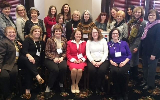 Serving on Hadassah Greater Atlanta's 2017 board are (front row, from left) Joan Solomon, Mindy Goldenberg, Lee Tanenbaum, President Sheila Dalmat, Annie Kohut and Sybil Ginsburg and (back row, from left) Anita Otero, Malka Shulman, Nancy Schwartz, Renée Rosenheck, Cheryl Feingold Dorchinsky, Helene Jacoby, Judy Bart, Phyllis M. Cohen, Marni Hoffman, Michele Weiner-Merbaum, Linda Hakerem, Tobah Shraga, Ellen Sichel and Maxine Schein.