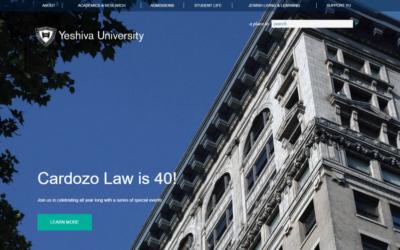 Yeshiva University's Cardozo School of Law, as featured at yu.edu