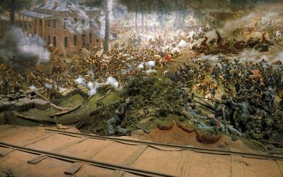 A section of the Atlanta Cyclorama.