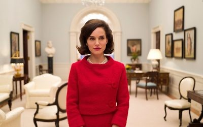 "Natalie Portman is nominated for Best Actress for her portrayal of Jackie O. in ""Jackie."""