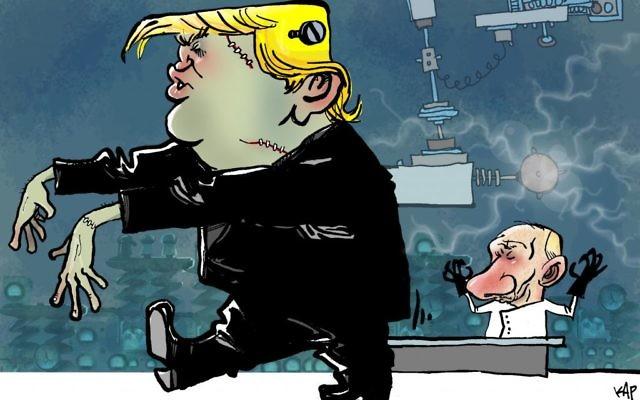 Cartoon by Kap, La Vanguardia, Spain