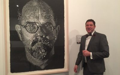 "Breman Executive Director Aaron Berger is a fan of Chuck Close's self-portrait, part of the second half of ""Atlanta Collects,"" on display through June 11."