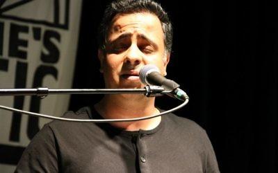 Foad Naraghi performs at international night at Eddie's Attic.