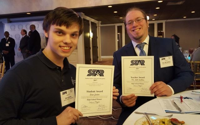 AJA's Dan Jutan and Bill Shillito attend the PAGE luncheon for STAR students and teachers.