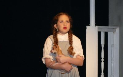 """Seventh-grader Shiraz Agichtein plays Dorothy in the opening show Wednesday afternoon, March 1. Her previous productions include """"Music Man,"""" """"Alice in Wonderland,"""" """"Annie"""" and """"Peter Pan."""""""