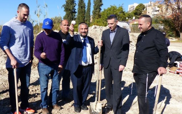 Josh Zeid (left), shown at the groundbreaking of a baseball complex in Beit Shemesh on Jan. 6, got the decision in Israel's win over South Korea on March 6 in the World Baseball Classic.