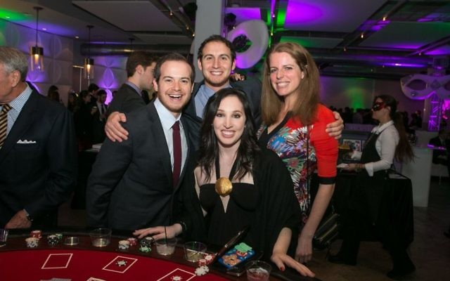 Photo courtesy of Jon Marks Photography Allison Lerer, Samantha Sater, Jeremy Lynn and Matt Spruchman play some blackjack.