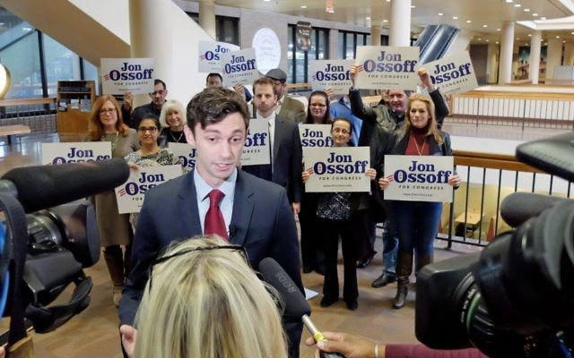 Jon Ossoff faces questions after qualifying for the special election Feb. 13 at the state Capitol