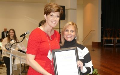 Michelle Izenson (right) is Congregation Beth Shalom's Power of One honoree.