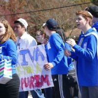 B'nei Akiva at the Purim Parade on March 5.