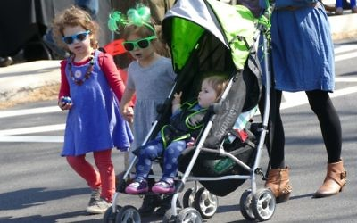 You're never too young to join in a parade.
