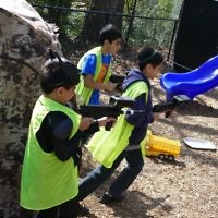 Laser tag keeps many youngsters busy during the carnival March 5.