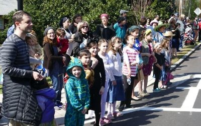 Happiness is watching the Purim Parade roll by.