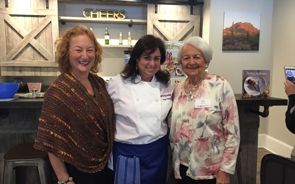 Susie Fishbein is flanked by JNF Southern Zone Director Beth Gluck (left) and Fay Gluck.