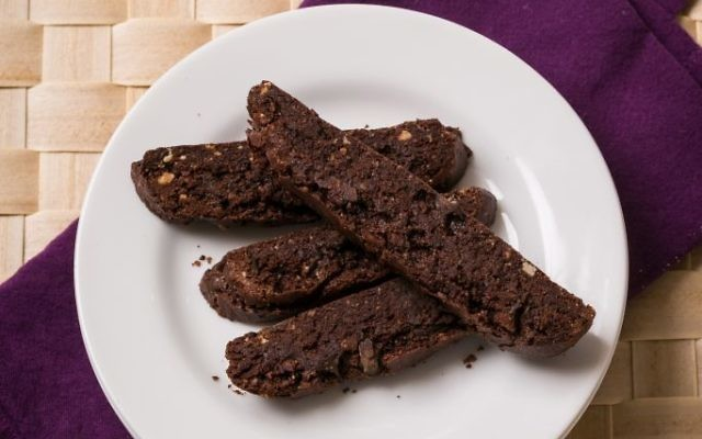 Photo by Michael Bennett Kress Triple-Chocolate Biscotti are chewy and crunchy.