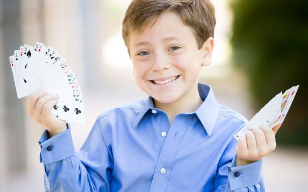 Sleight of hand is a specialty for bar mitzvah Alex Newberg.