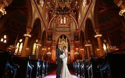 The Millers married in August 2015 at Plum Street Temple.