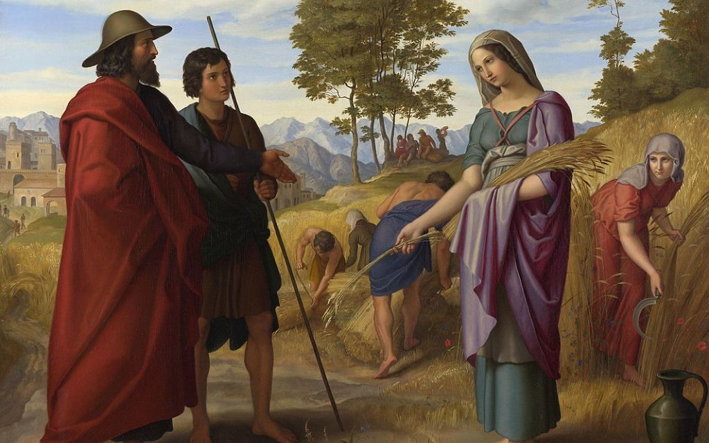 "Julius Schnorr von Carolsfeld's ""Ruth in Boaz's Field"" from 1828 depicts one of the crucial converts in Jewish history."