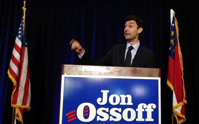 Jon Ossoff, appearing at the Crown Plaza Ravinia in Dunwoody on the night of the April 2017 primary, won't run against Karen Handel again in 2018.