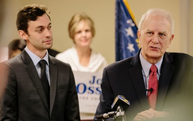 Jon Ossoff (left) has the endorsement of former Gov. Roy Barnes.