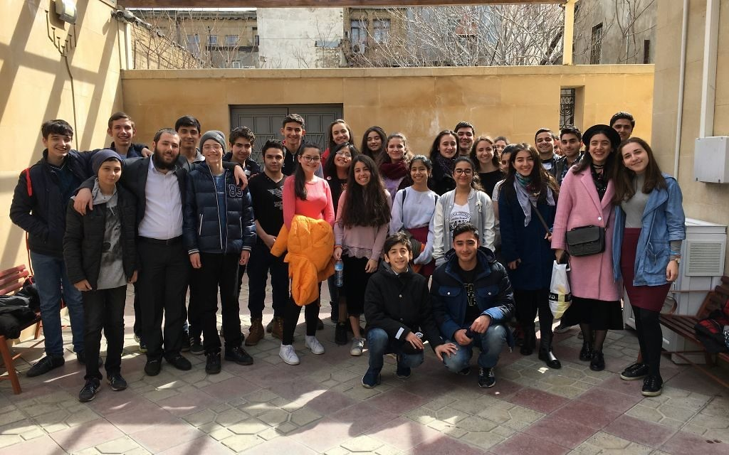 The AJA mission visits Enerjew, a youth group for teens in Baku that serves 40 kids a week.