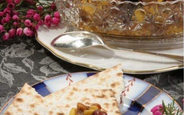Marge Piercy's Mizrachi charoset is a mix of sweet and tart flavors.