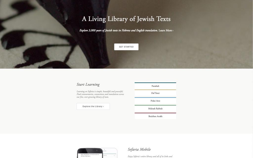 Homepage of Sefaria.org