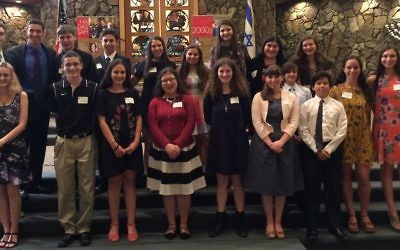 The Chesed Award winners are (top row from left) Aiden Erez, Noam Kleinman, Richard Trutt, Rami Fabian, Shannan Berzack, Rianna Saslow, Katie Stone, Jenna Schulman and Zoe Glickman and (bottom row from left) Shira Kopel, Cary de Graaff, Gefen Beldie, Thelet Bunder, Sophie Wilson, Kira Mermelstein, Jeremy Stettner, Victor Maslia, Danielle Ben-Arie and Emily Brothman. Not pictured are Shira Golding and Lilah Presser-Weiss.