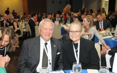 Gov. Nathan Deal and Ambassador Judith Varnai Shorer attend the 2017 Conexx Gala on May 3. Deal spoke of meeting the Israeli consul general at a Lake Lanier event marking the 20th anniversary of the 1996 Atlanta Summer Olympics but only now appreciating how well being from Israel acclimated her to the Georgia heat.
